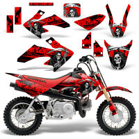 Honda CRF50 Graphic Kit MX Dirt Bike Decals Graphics Wrap CRF 50 04-13 REAP RED