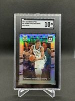 2017-18 Donruss Optic Giannis Antetokounmpo Holo Prizm SGC 10 GEM MINT H49