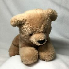 "Mary Meyer Light Brown Teddy Bear Laying Down Vintage 10"" Stuffed Animal Korea"
