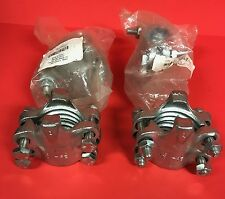 "Lot of (4) Carbon Steel 4 Bolt Interlocking Hose Clamps - 1-15/16"" x 2-1/8"""