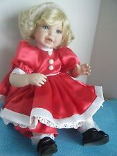 "1999 ""Santa Baby"" Marie Osmond ""Toddler"" Series Porcelain Collector Doll ~ Nice!"