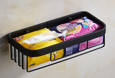 Black Space Aluminum Bathroom Shower Caddy Storage Shelf Basket Shower Organizer