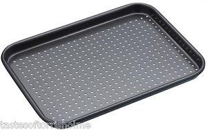 Masterclass Perforated Crusty Bake 24cm x 18cm Non Stick Small Baking Sheet Tray