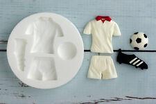 Silicone Mould, Football Strip, Kit, Shirt, Shorts, Boot, Soccer,  M0125