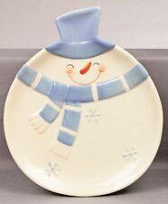 NATALE Stoviglie In Ceramica Blue & white PIASTRA PUPAZZO DI NEVE NUOVO