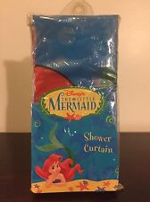 Vintage 1990s NEW Disney The Little Mermaid Shower Curtain Bathroom In Package