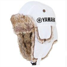 Yamaha Glacier Basin Faux Rabbit Fur Hat in White w/ Yamaha Logo - One Size