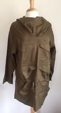Isabel Marant Etoile SZ S/M Army Green Cotton Anorak Jacket Top w Hood