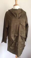 Isabel Marant Etoile SZ S/M Army Green Cotton Anorak Jacket Top w Hood
