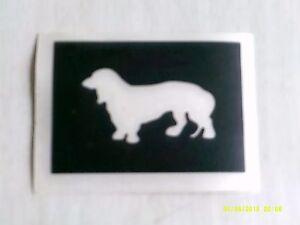 10 - 400 Dashshund dog stencils for etching glass craft hobby gift present