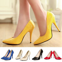 Women Pointed Toe Stilettos High Heels Classic Dress Pumps Slip On Party Shoes
