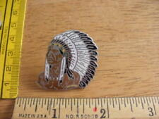 1980s pin tie tac Tribal Chief Headdress Feathers Earrings Pin HTF mini vintage