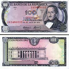 Colombia 100 Pesos Oro 1973, UNC, P-415