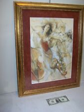 """Gary Benfield """"Jazz Nights"""" Original Serigraph Hand Signed & Numbered Gold Frame"""