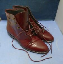 Russell & Bromley Deep Red Lace Leather Sole Shoes EU 39 - UK 5.5