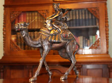 "Bronze ""Arab Man Riding Camel"" Austria Bergman 14"" Free Ship"