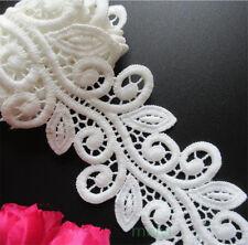 1 yd Vintage Micro Fiber Lace Edge Trim Ribbon Wedding Applique DIY Sewing Craft