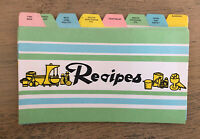 Vintage Recipe Divider Cards Pastels Labeled 8 Dividers Green Blue Pink Yellow