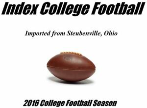 Index College Football (2016 Season)