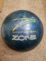 Brunswick Zone Bowling Ball 15.8 Pound Purple Blue Swirl B018