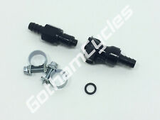 "BMW / KTM 5/16"" Gas Fuel Line Hose Quick Release Disconnect Coupling Kit Black"