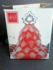"Mikasa Winter Dreams Ruby Red Bell Glass Textured 5.5""  Germany S/A952/922"