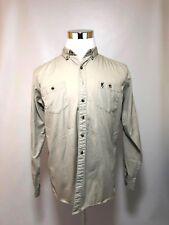 Browning Jr. XL X-Large Boy's Shirt Button Down Tan Cotton Pockets Long Sleeve