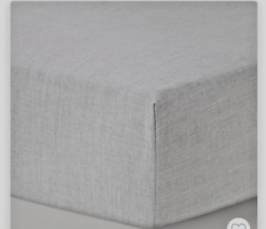 Fitted Crib Sheet Solid - Cloud Island Gray