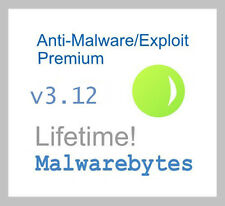 Malwarebytes AntiMalware/Exploit Premium v3.12 - Lifetime License - Genuine!