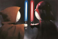 Good vs Bad by Doug Hyde. Brand New, MOUNTED with COA