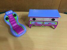 Barbie Doll Glam Dream Game Room Entertainment Center Music Chair Home Furniture