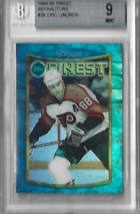 1994-95 Finest Refractor #8 Eric Lindros No Coating BGS 9 POP 1 None Higher