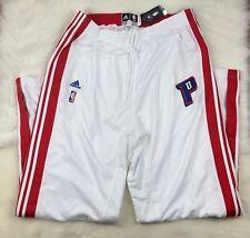 $99 NBA Detroit Pistons On Court Tear Away Adidas Shooting Pants Mens 2XLT 2XL+4