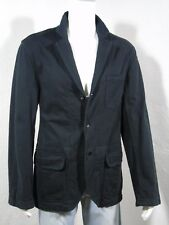 NWT Polo RALPH LAUREN Distressed Trim Cotton Jersey Sport Coat/Blazer Navy sz L