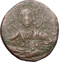 JESUS CHRIST Class A2 Anonymous Ancient 1025AD Byzantine Follis Coin i47713