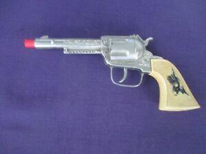 VINTAGE 60'S SINGLE ACTION HUBLEY WESTERN TOY CAP GUN IN VERY NICE CONDITION