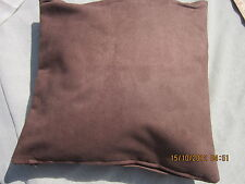 "Designer cushion cover ""Macrosuede"" by Warick 16"" square soft brown"