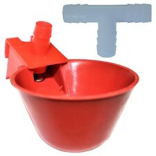 24 Rite Farm Products Auto Waterer Drinker Cup Amp Barbed Fitting Chicken Poultry