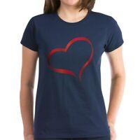 CafePress Heart Women's Dark T Shirt Women's Cotton T-Shirt (505359491)