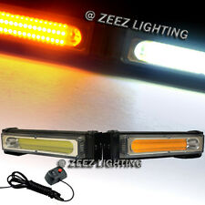 COB LED 20W Amber&White Emergency Hazard Strobe Beacon Caution Warn Light Bar#11