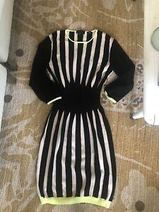 Ted Baker Black And White Stripe Dress 3