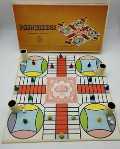 Vintage Parcheesi Gold Seal Edition 1964 Selchow India Backgammon Game Complete