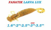 "Fanatik Dragonfly Larva-LUX 1.6""-3.5"" Eatable Soft Fishing Lures Silicone Baits"
