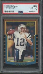 2000 Bowman #236 Tom Brady RC Rookie PSA 6