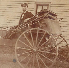 PHOTO OF MAN IN SCOTTISH HAT   BOWTIE ON HORSE DRAWN CARRIAGE