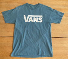 VANS OFF THE WALL T SHIRT BLUE SIZE MED