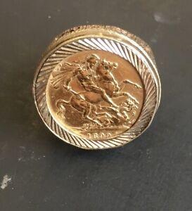 """Superb 1899 Victorian Full Sovereign Ring"" Heavy 18.7g"