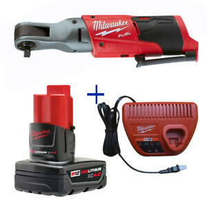 Milwaukee 2558-20 M12 Fuel 1/2 Ratchet 48-11-2440 12V Battery 48-59-2401 Charger