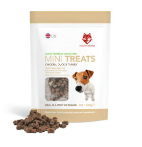 Grain Free Training Treats for Dogs - 80% Poultry  - 100% Natural - 500g