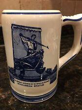 "Blue Delfts Hand Painted Ceramic 5"" BEER STEIN Mug Old New Bedford 1810"